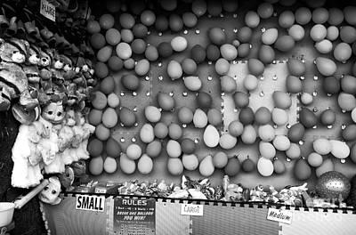 Pop Any Balloon Mono Poster