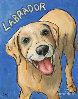 Pop Art Labrador Poster by Robin Wiesneth