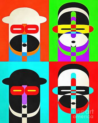 Pop Art People Quattro Poster