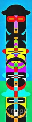 Pop Art People Totem 7 Poster by Edward Fielding