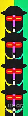 Pop Art People Totem 8 Poster by Edward Fielding