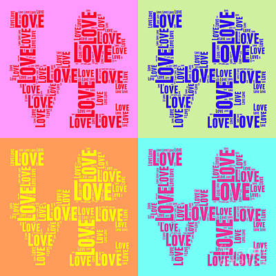 Pop Love Collage Poster by Delphimages Photo Creations