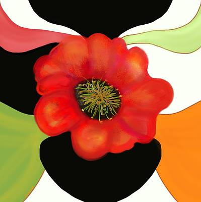 Pop Poppy Poster by Christine Fournier