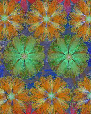 Pop Spiral Floral 22 Poster