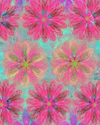 Pop Spiral Floral 8 Poster
