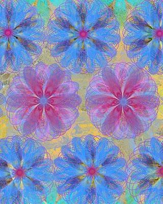 Pop Spiral Floral II  Poster by Ricki Mountain