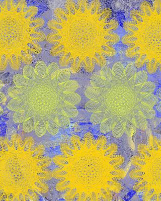 Pop Spiral Floral Iv  Poster by Ricki Mountain