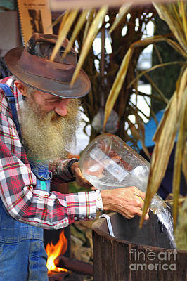 Popcorn Sutton Pours Moonshine Poster by Larry Wright