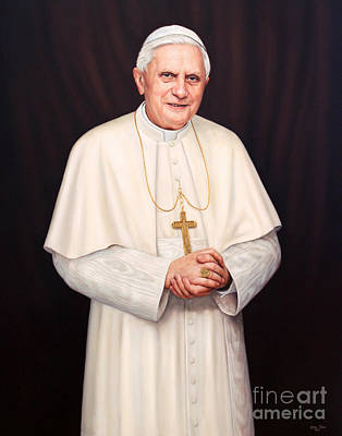 Pope Benedict Xvi Poster by Lisa  Ober