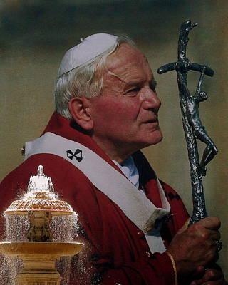 Pope John Paul I I Poster by Ramona Johnston