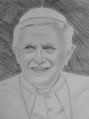 Pope Benedict Poster by Paul Blackmore