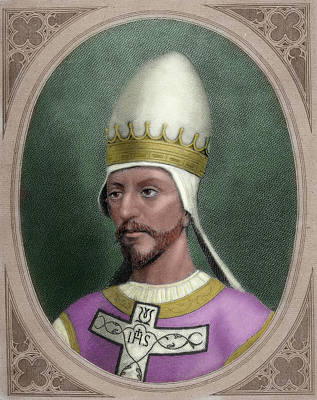 Pope Saint Gregory Vii (c Poster by Prisma Archivo