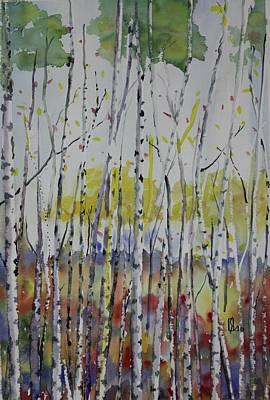 Poplars In Fall Poster