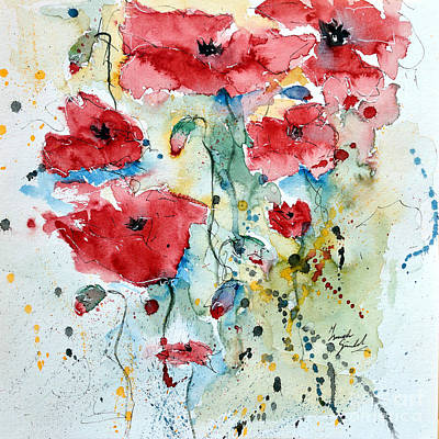 Poppies 04 Poster by Ismeta Gruenwald