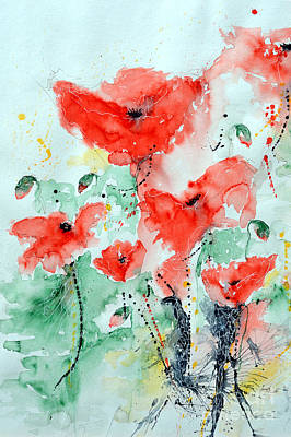 Poppies 06 Poster by Ismeta Gruenwald
