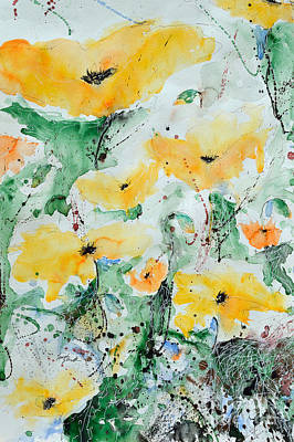 Poppies 07 Poster by Ismeta Gruenwald
