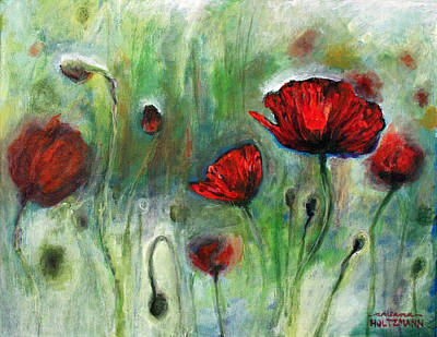 Poppies Poster by Arleana Holtzmann