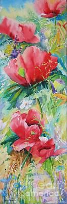 Poppies At Play Poster