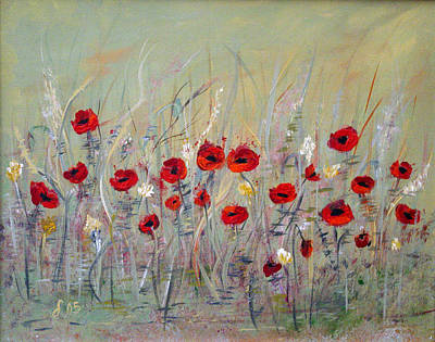 Poster featuring the painting Poppies by Dorothy Maier