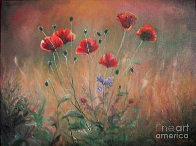 Poster featuring the painting Poppies by Sorin Apostolescu
