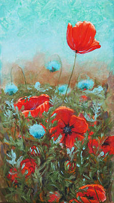 Poppies Poster by Toni Wolf