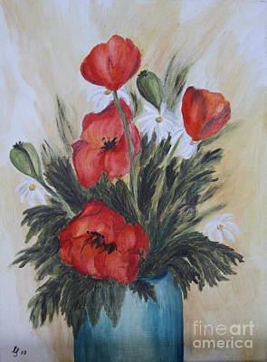 Poppy Bouquet - Oil Painting Poster by Christiane Schulze Art And Photography