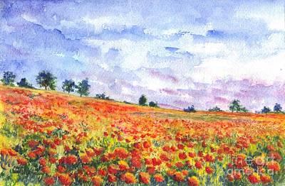 Poppy Field Poster by Carol Wisniewski