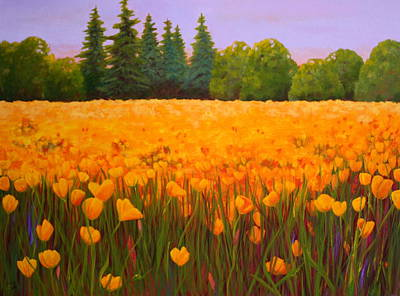 Poppy Fields Forever Poster by Nancy Jolley