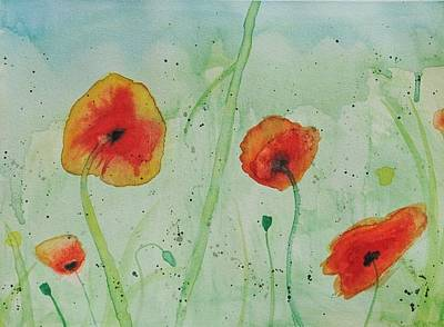 Poppy Flowers Poster by Amber Rhodes