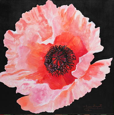 Poster featuring the painting Poppy Power by M Diane Bonaparte