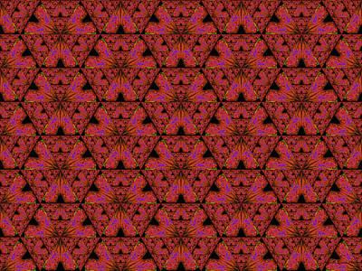 Poppy Sierpinski Triangle Fractal Poster