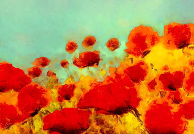 Poster featuring the painting Poppy Time by Valerie Anne Kelly