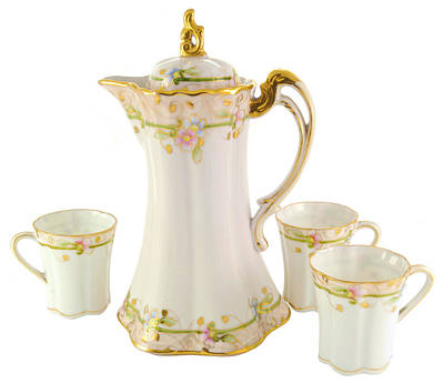 Porcelain Pitcher And Cups Poster