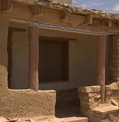 Porch Of Pueblo Home Poster by James Gay