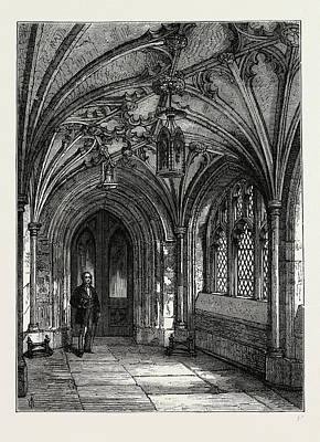 Porch Of St. Sepulchres Church Poster by Litz Collection