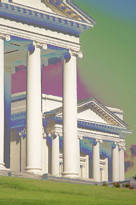 Poster featuring the photograph Porch Of State Capitol Richmond Va by Suzanne Powers