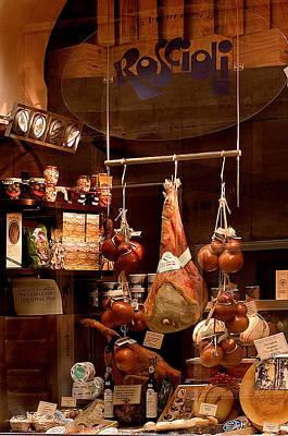 Pork Store Rome Italy Poster