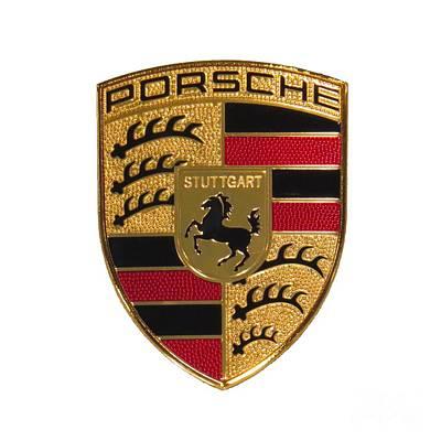 Porsche - Emblem White Poster