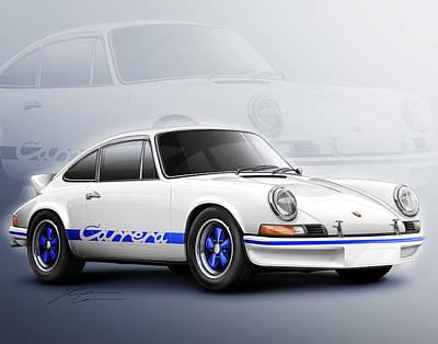 Porsche 911 Rs 1973 Poster