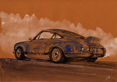 Porsche 911 Rs Classic Poster by Juan  Bosco
