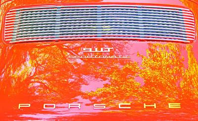 Porsche 911t Reflections Poster by Samuel Sheats