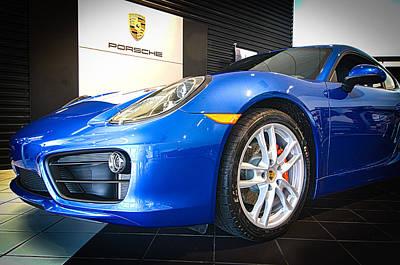 Porsche Cayman S In Sapphire Blue Poster