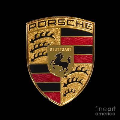 Porsche Emblem - Black Poster