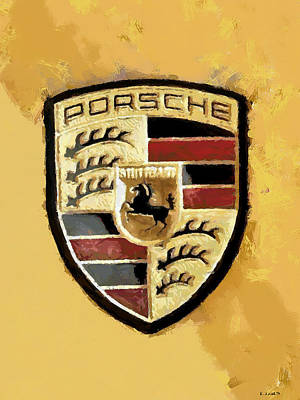 Poster featuring the digital art Porsche Heritage by Kai Saarto