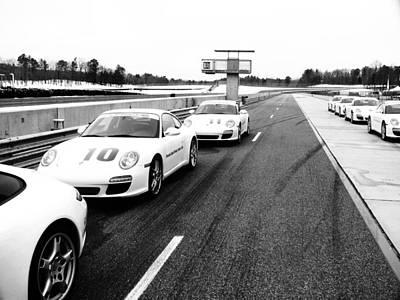 Porsche Pit Lane Poster by Jeff Taylor