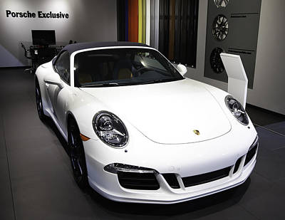 Porsche Showcased At The New York Auto Show Poster by E Osmanoglu