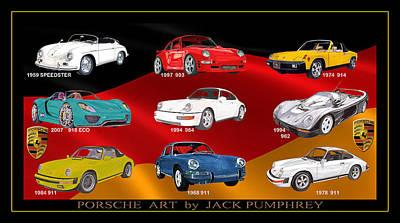 Porsche Times Nine Poster by Jack Pumphrey