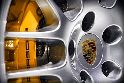 Porsche Wheel Poster by Gordon Dean II