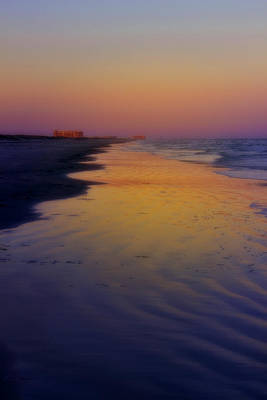 Poster featuring the photograph Port Aransas Sunset by Ellen Heaverlo