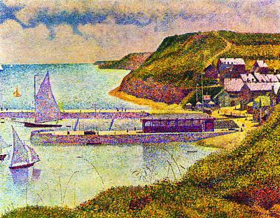 Port En Bessin Poster by Georges Seurat